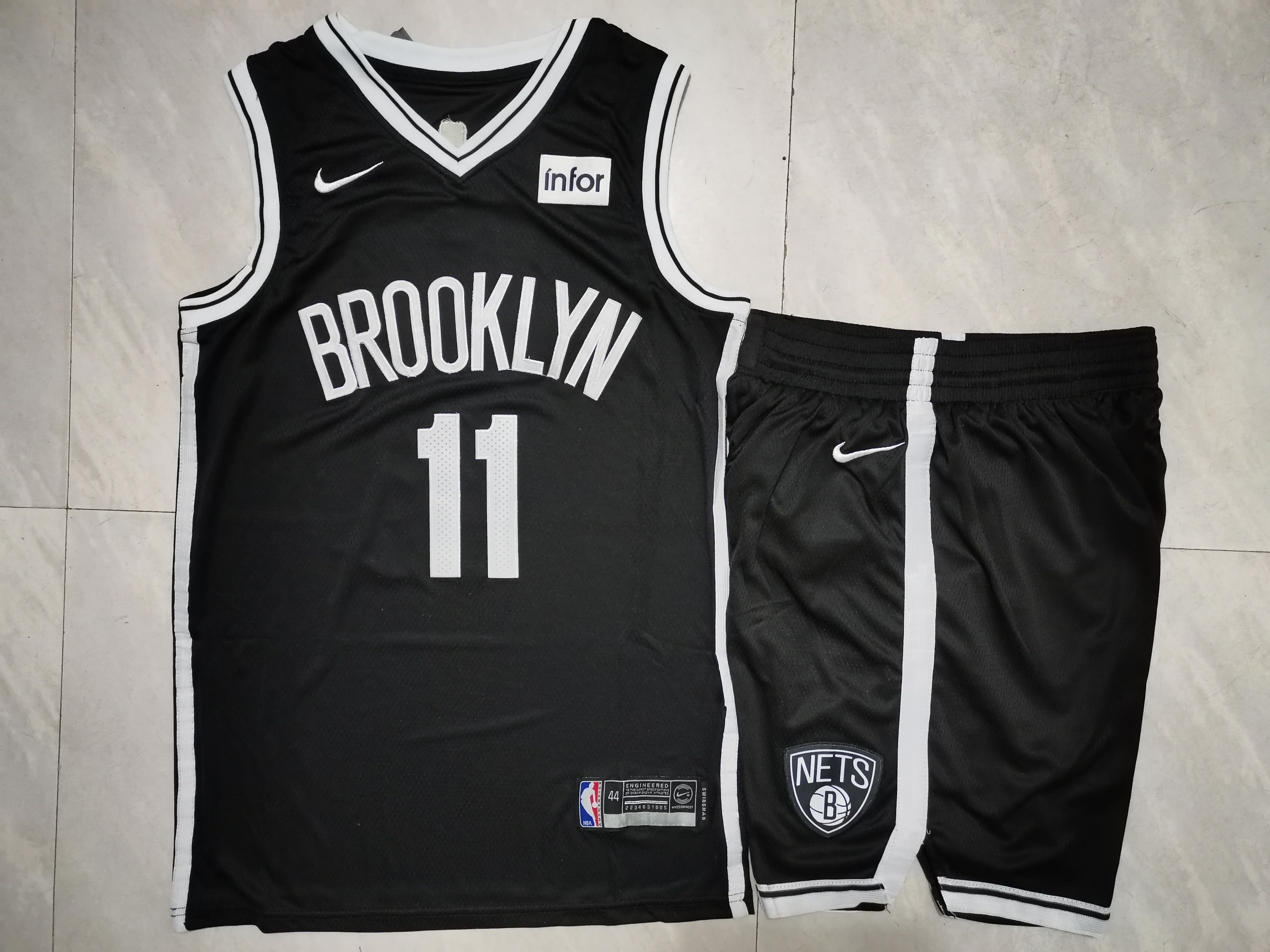Nets 11 Kyrie Irving Black Nike Swingman Jersey(With Shorts)
