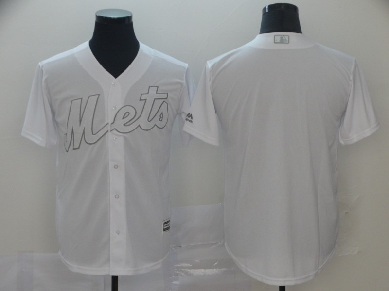 Mets Blank White 2019 Players' Weekend Player Jersey