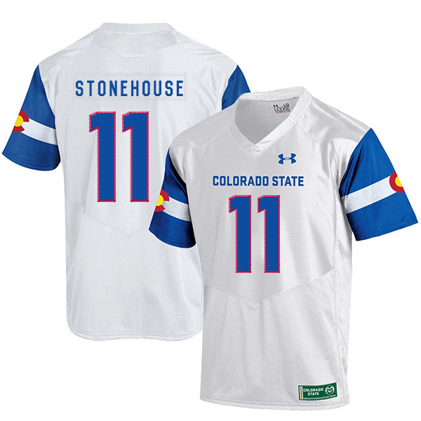 Colorado State Rams 11 Ryan Stonehouse White College Football Jersey