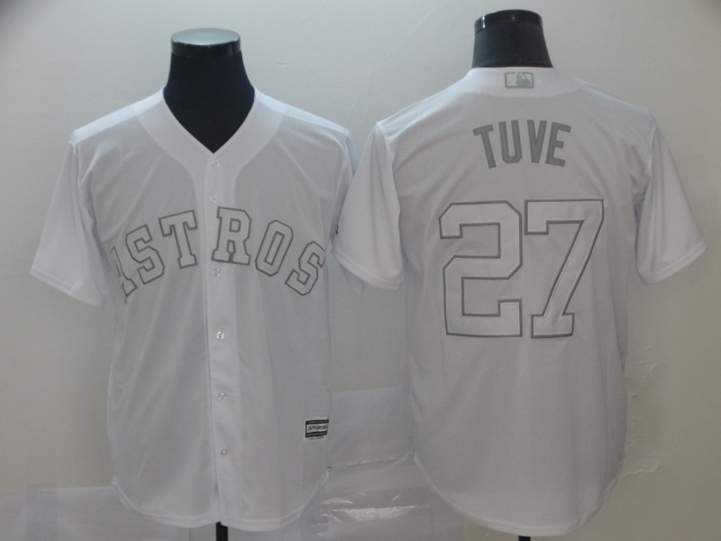 Astros 27 Jose Altuve Tuve White 2019 Players' Weekend Player Jersey
