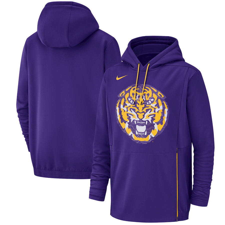 LSU Tigers Nike Champ Drive Performance Pullover Hoodie Purple