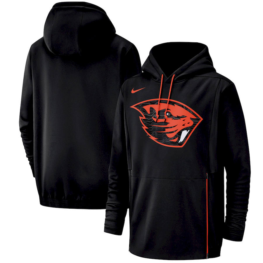 Oregon State Beavers Nike Champ Drive Performance Pullover Hoodie Black