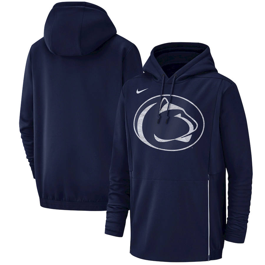 Penn State Nittany Lions Nike Champ Drive Performance Pullover Hoodie Navy