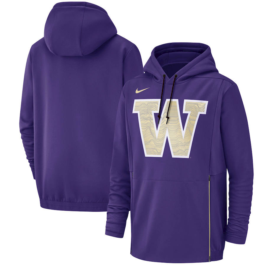 Washington Huskies Nike Champ Drive Performance Pullover Hoodie Purple