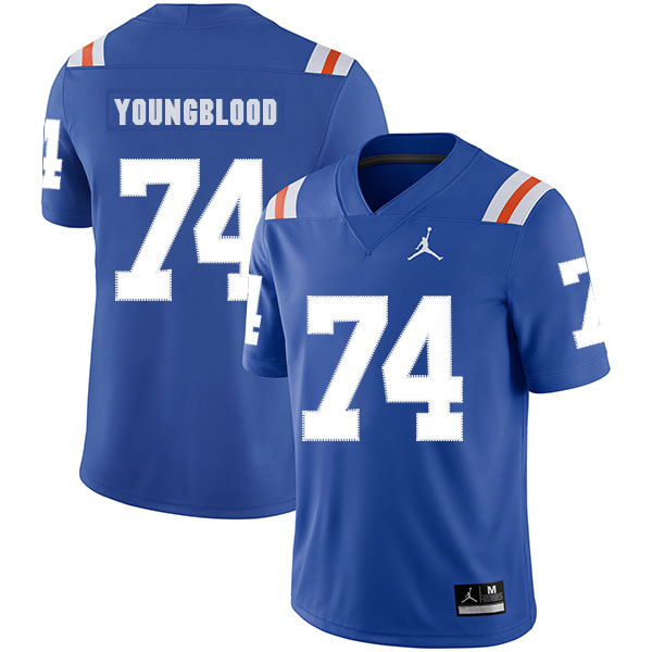Florida Gators 74 Jack Youngblood Blue Throwback College Football Jersey