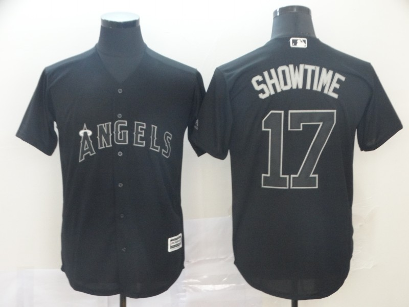 """Angels 17 Shohei Ohtani """"Showtime"""" Black 2019 Players' Weekend Player Jersey"""
