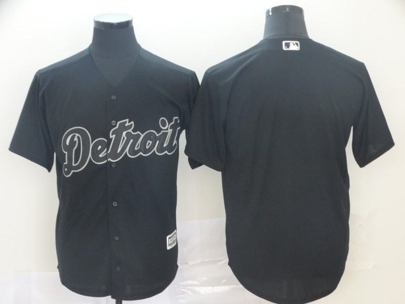 Tigers Blank Black 2019 Players' Weekend Authentic Player Jersey