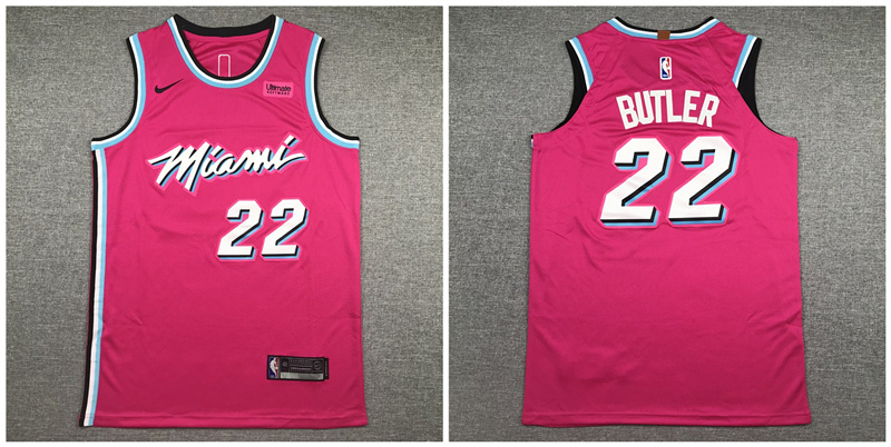 Heat 22 Jimmy Butler Pink City Edition Nike Authentic Jersey