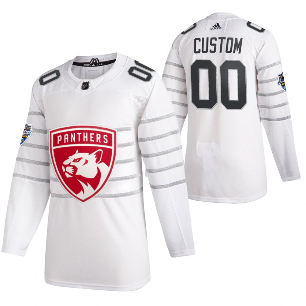 Panthers Customized White 2020 NHL All-Star Game Adidas Jersey