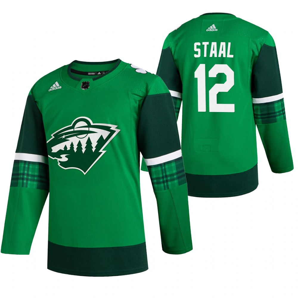 Wild 12 Eric Staal Green 2020 Adidas Jersey