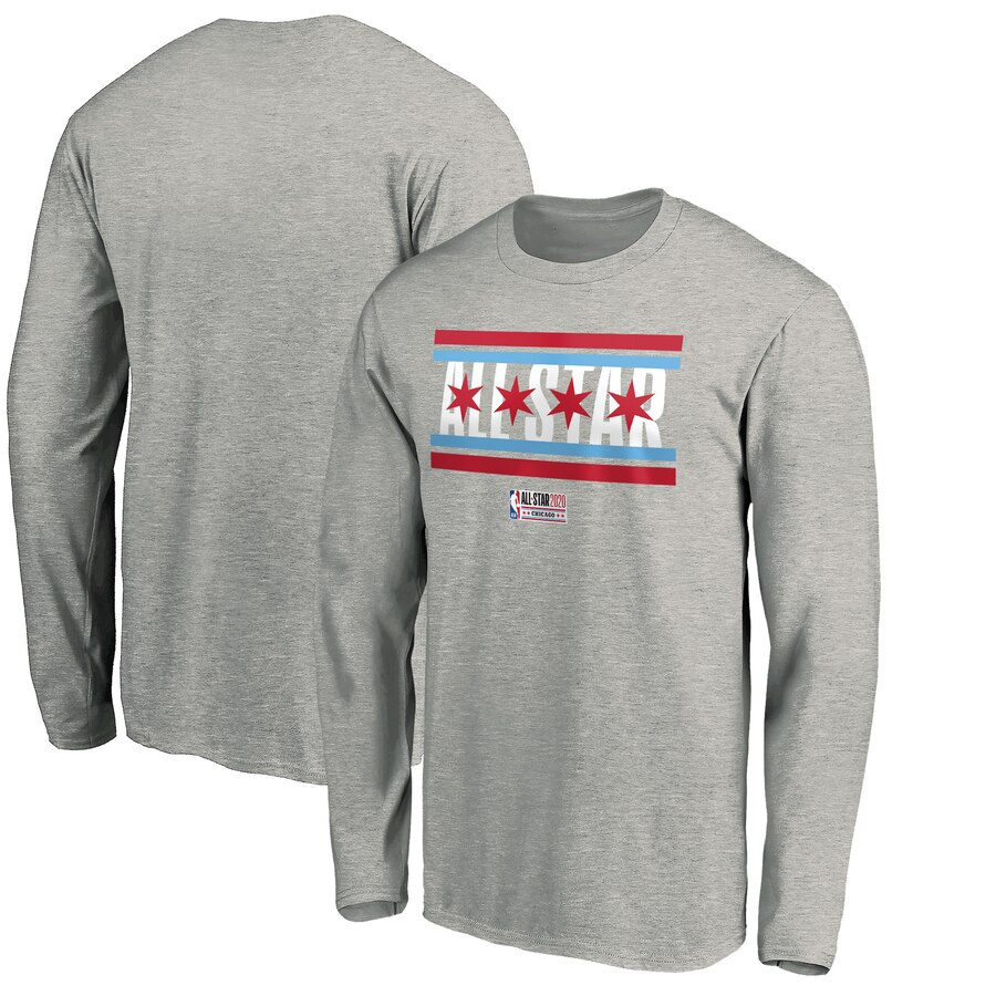 Fanatics Branded 2020 NBA All-Star Game Before The Buzzer Long Sleeve T-Shirt Heather Gray