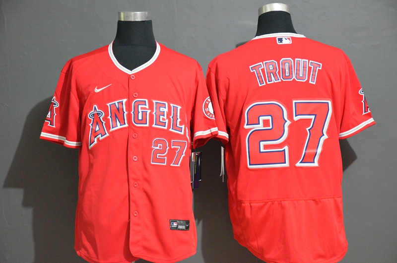 Angels 27 Mike Trout Red 2020 Nike Flexbase Jersey