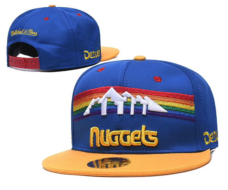 Nuggets Team Logo Blue Mitchell & Ness Adjustable Hat TX