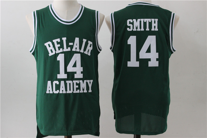Bel-Air Academy 14 Will Smith Green Stitched Movie Jersey