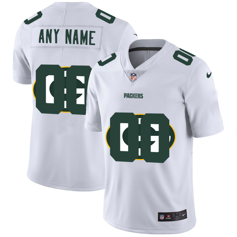 Nike Packers Customized White Team Big Logo Vapor Untouchable Limited Jersey