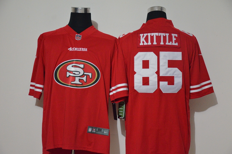 Nike 49ers 85 George Kittle Red Team Big Logo Vapor Untouchable Limited Jersey