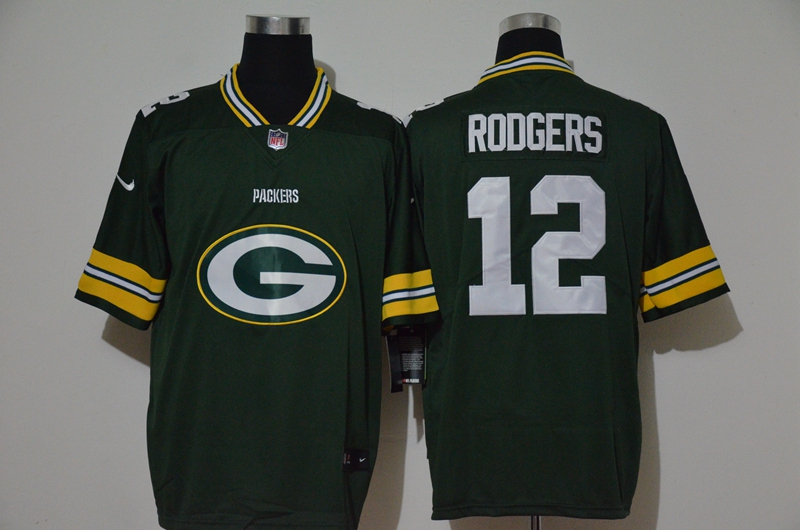 Nike Packers 12 Aaron Rodgers Green Team Big Logo Vapor Untouchable Limited Jersey