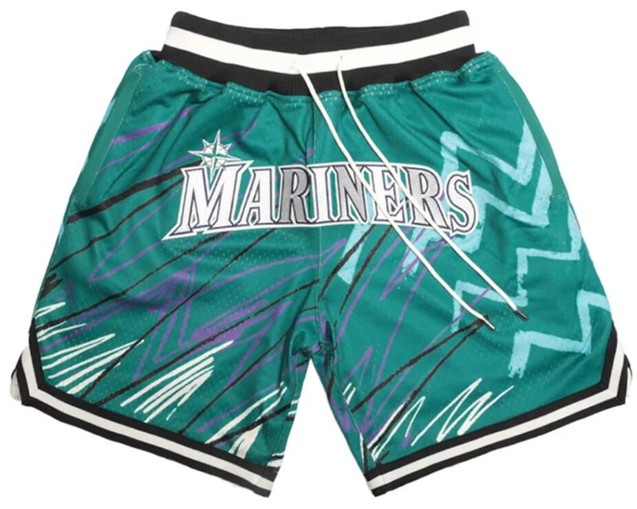 Men's Seattle Mariners Team Logo Green With Pocket Baseball Shorts