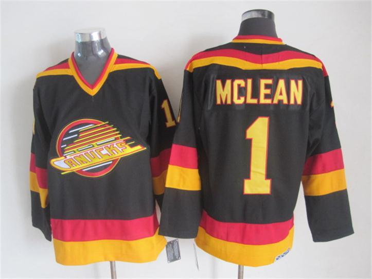 Canucks 1 Mclean Black Jersey