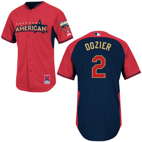 American League 2 Dozier Red 2014 All Star Jerseys