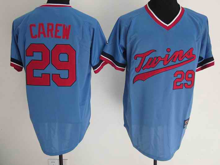 Twins 29 Carew baby Blue Throwback jerseys