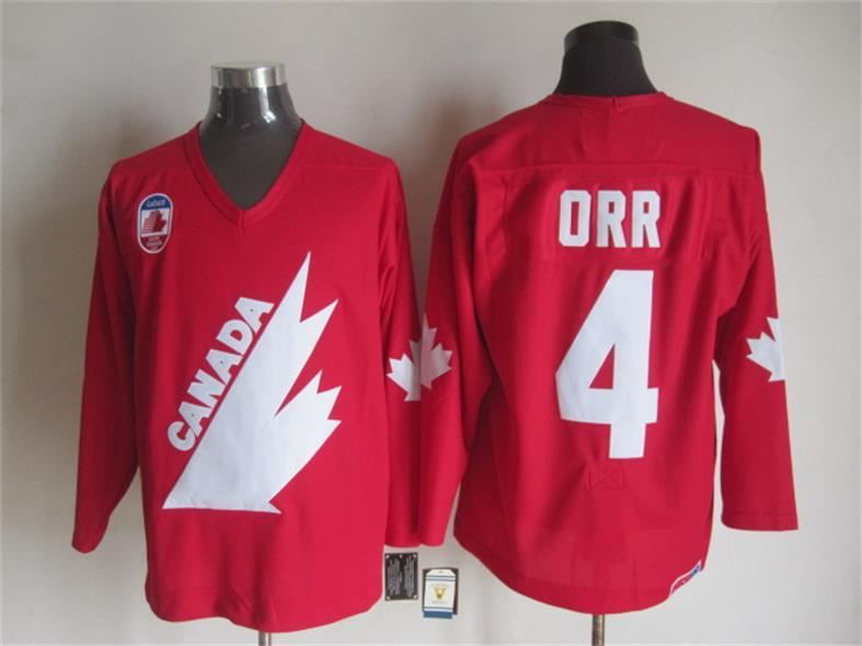 Canada 4 Bobby Orr Red Throwback Jersey