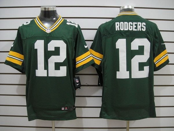 Nike Packers 12 Rodgers Green Elite Big Size Jersey