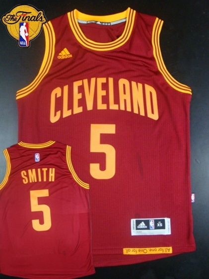 Cavaliers 5 J.R.Smith Red 2015 NBA Finals New Rev 30 Jersey