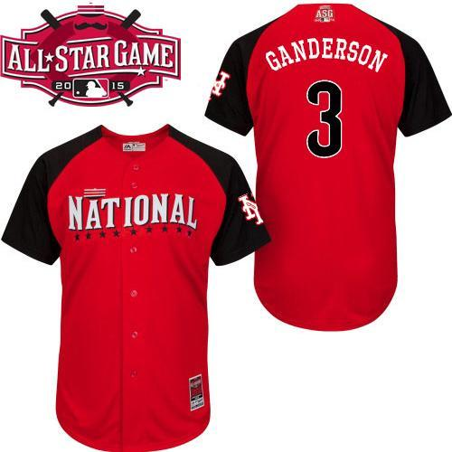 National League Mets 3 Granderson Red 2015 All Star Jersey