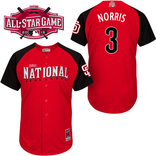 National League Padres 3 Norris Red 2015 All Star Jersey