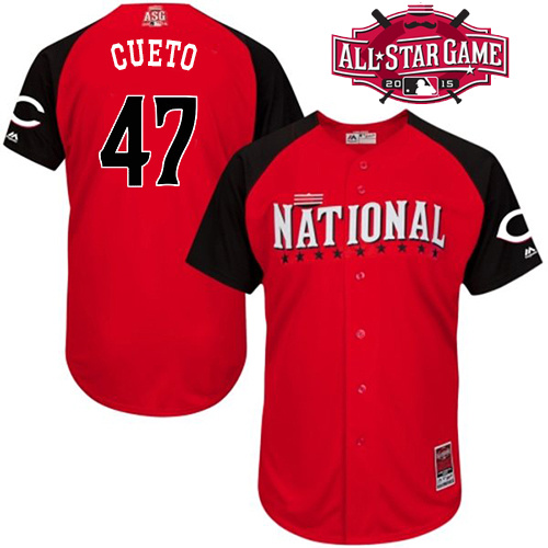 National League Reds 47 Cueto Red 2015 All Star Jersey