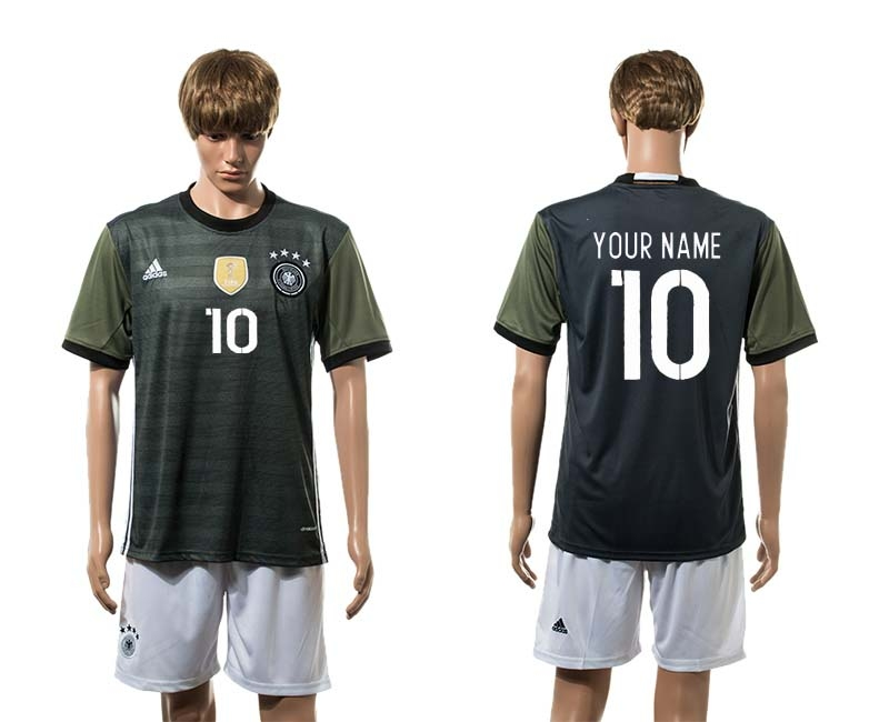 Germany Away UEFA 2016 Customized Soccer Jersey