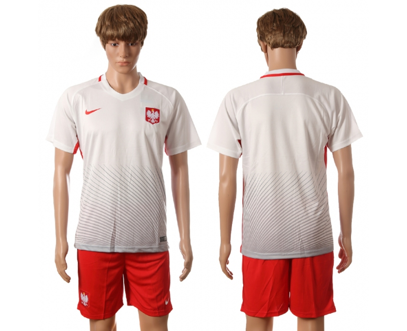 Poland Home UEFA 2016 Customized Soccer Jersey