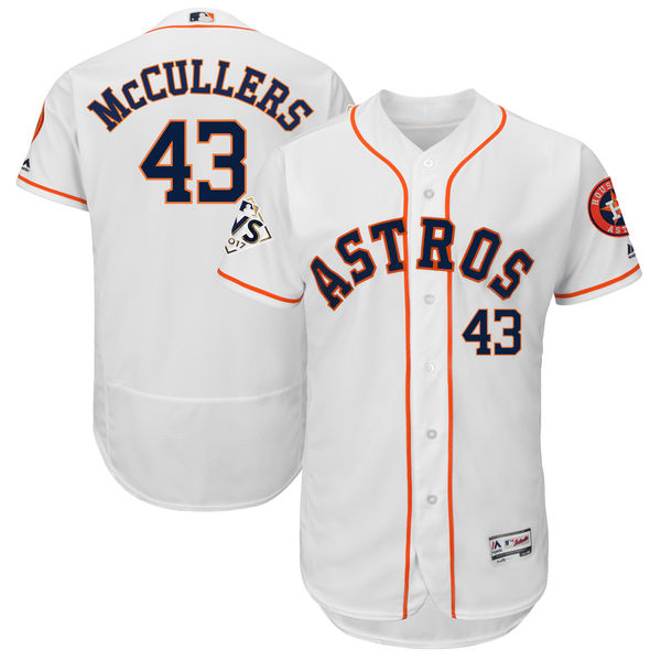Astros 43 Lance McCullers Jr. White 2017 World Series Bound Flexbase Player Jersey