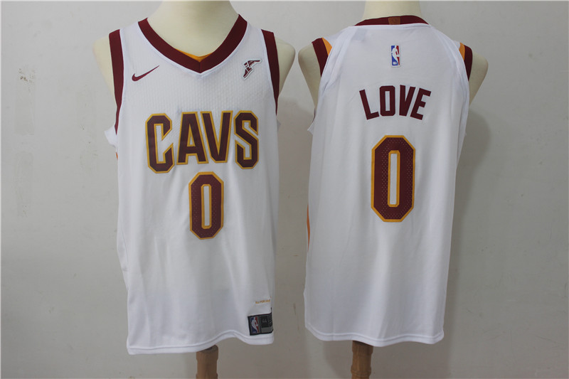 Cavaliers 0 Kevin Love White Nike Authentic Jersey