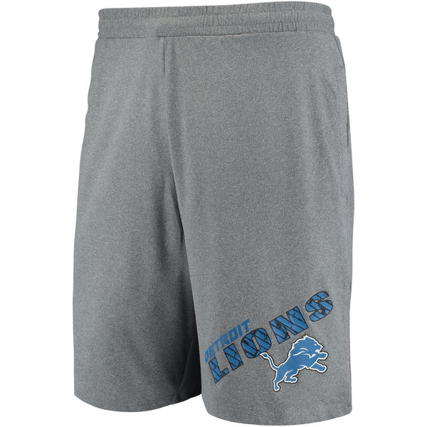 Detroit Lions Concepts Sport Tactic Lounge Shorts Heathered Gray