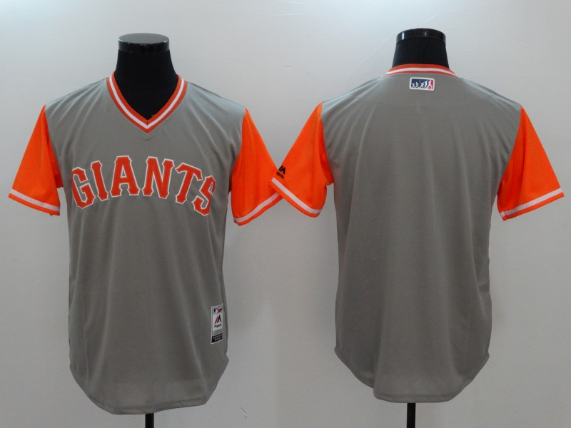 Giants Majestic Gray 2017 Players Weekend Team Jersey