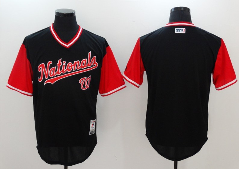 Nationals Majestic Navy 2017 Players Weekend Team Jersey