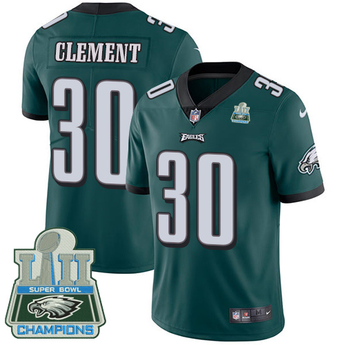 Nike Eagles Corey Clement Green 2018 Super Bowl Champions Youth Vapor Untouchable Player Limited Jersey