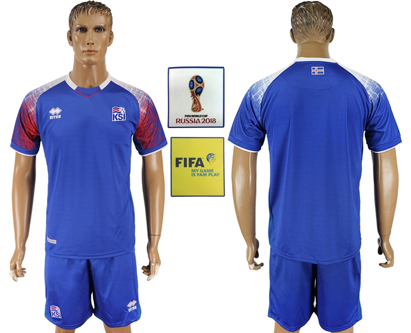 Iceland Home 2018 FIFA World Cup Men's Customized Jersey