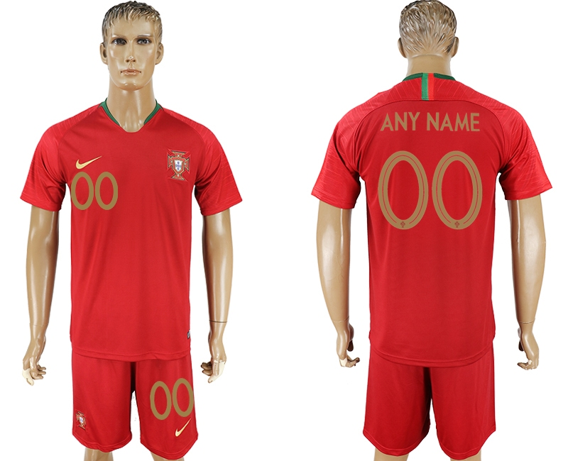 Portugal Home 2018 FIFA World Cup Men's Customized Jersey