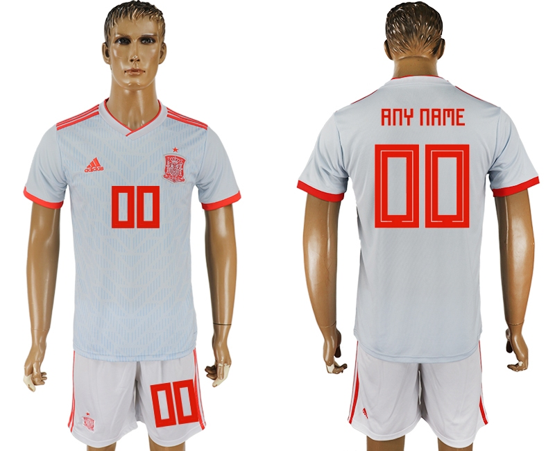 Spain Away 2018 FIFA World Cup Men's Customized Jersey