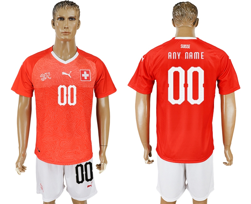 Switzerland Home 2018 FIFA World Cup Men's Customized Jersey