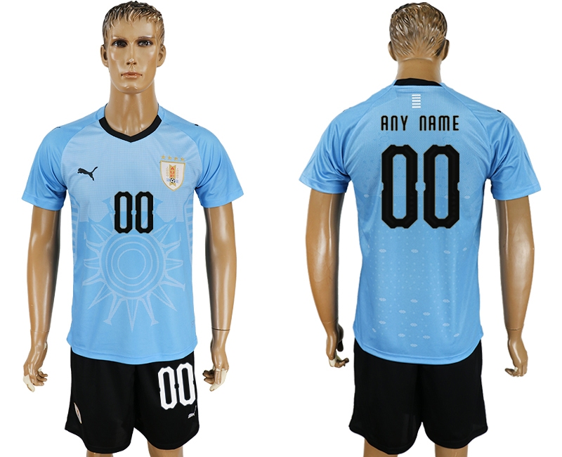 Uruguay Home 2018 FIFA World Cup Men's Customized Jersey