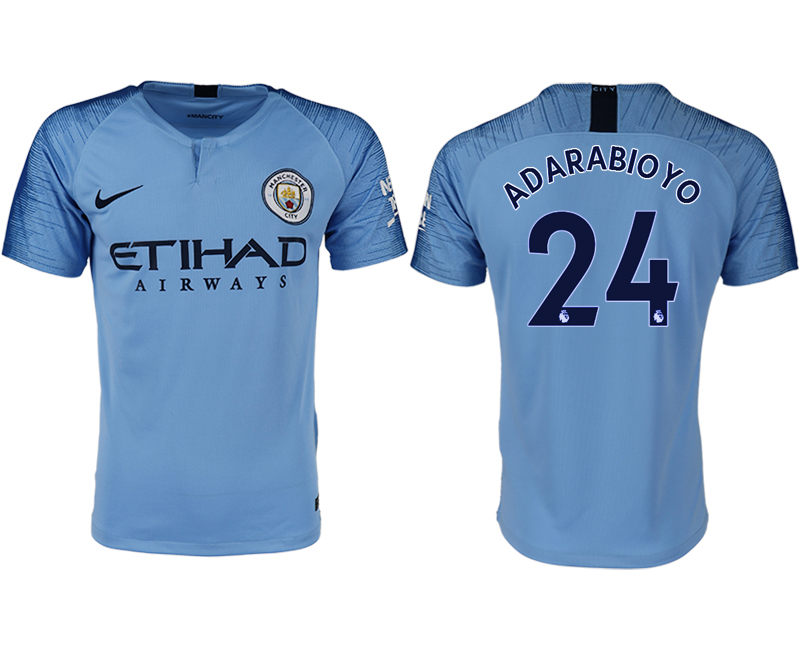 2018-19 Manchester City 24 ANDARABIOYO Home Thailand Soccer Jersey