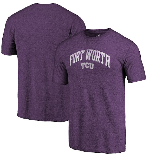 TCU Horned Frogs Fanatics Branded Purple Arched City Tri-Blend T-Shirt