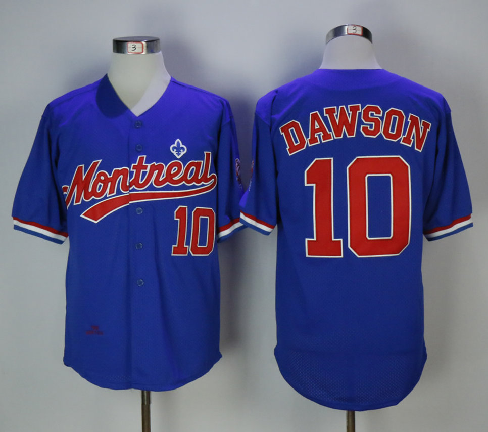 Expos 10 Andre Dawson Blue Cooperstown Collection Mesh Batting Practice Jersey