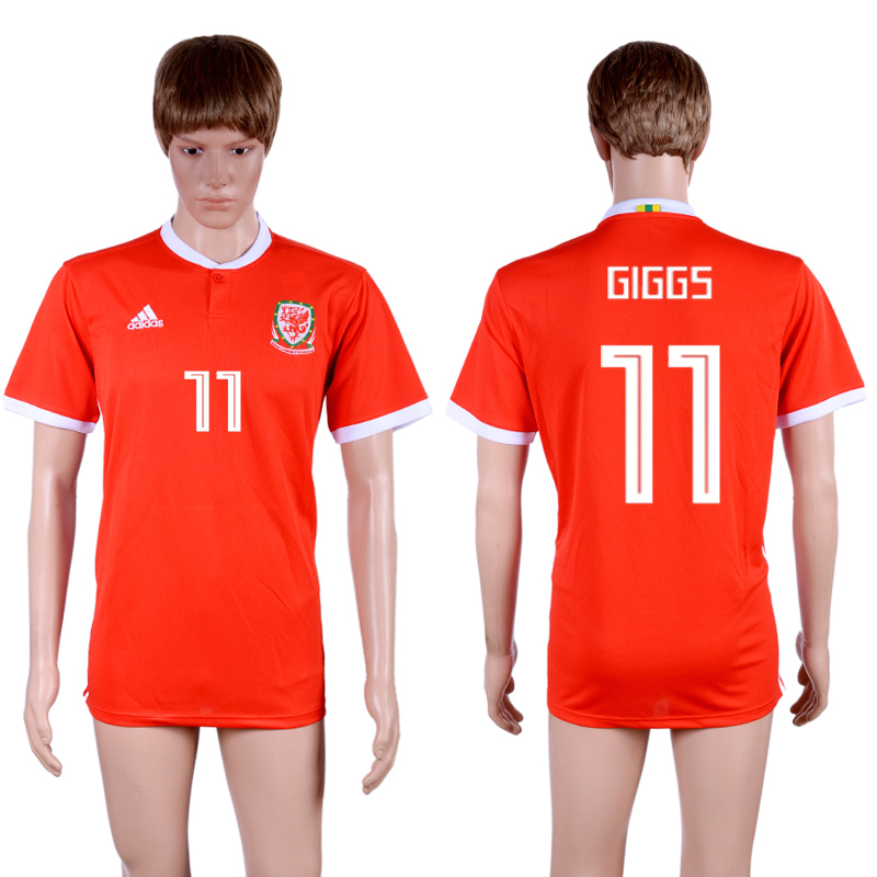 2018-19 Wales 11 GIGGS Home Thailand Soccer Jersey