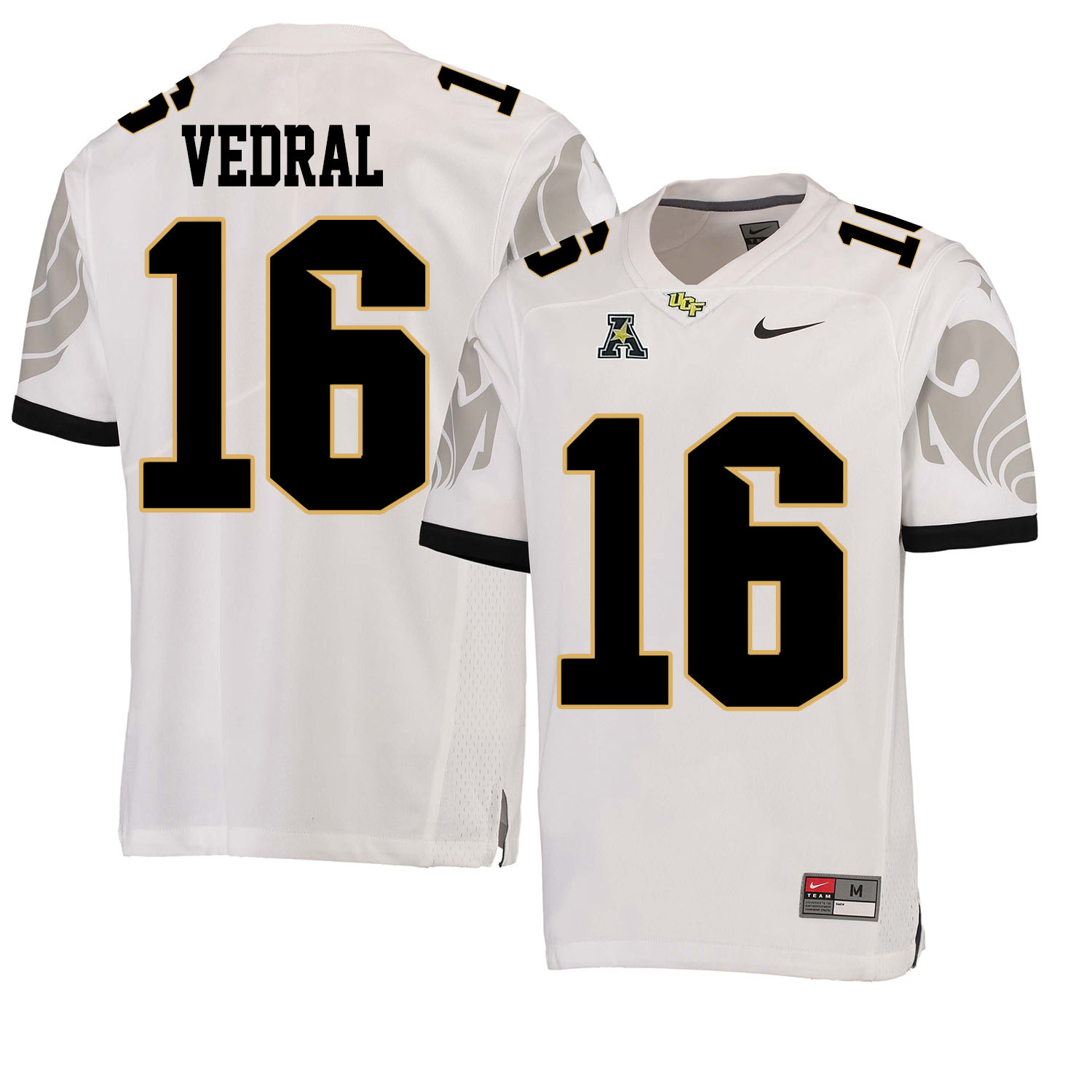 UCF Knights 16 Noah Vedral White College Football Jersey