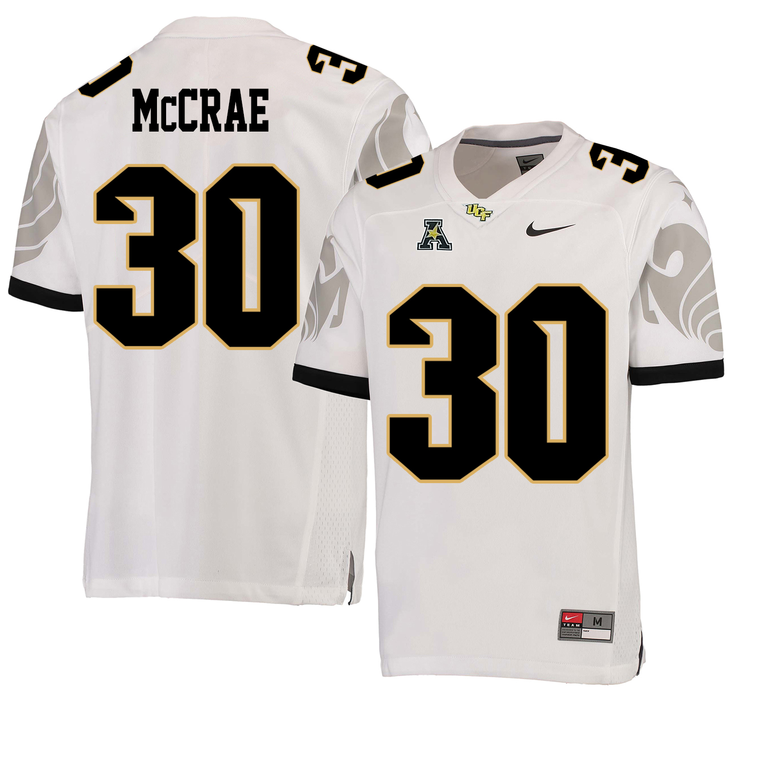 UCF Knights 30 Greg McCrae White College Football Jersey